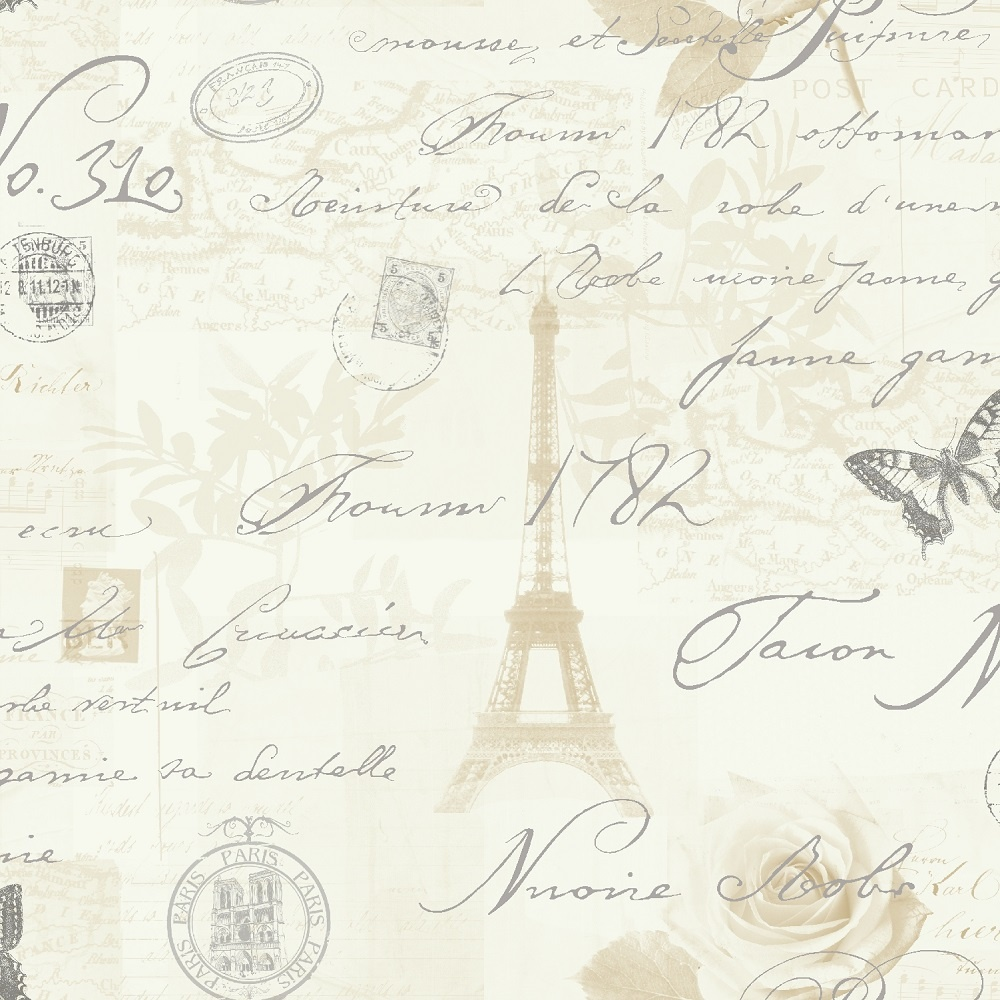 Holden Calligraphy Paris Vintage French Postcard Wallpaper