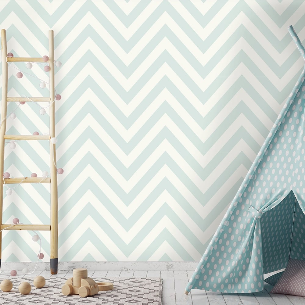 Holden Chevron Striped Pattern Childrens Wallpaper Pastel Stripes Kids  Motif 12570