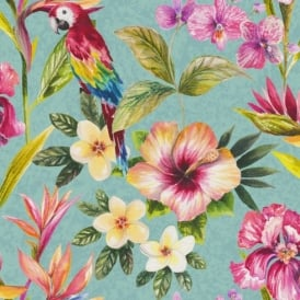 Holden Décor Bird Of Paradise Floral Pattern Flower Parrot Motif Wallpaper 98433