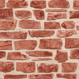 Holden Décor Brickwork Red Brick Wall Textured Vinyl Wallpaper 20899