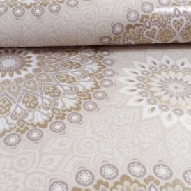 Holden Décor Glitter Medallion Pattern Abstract Aztec Motif Wallpaper 11453
