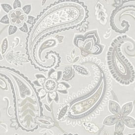 Holden Décor Indira Paisley Pattern Floral Flower Motif Metallic Wallpaper 98381