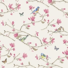 Holden Décor Kira Bird Butterfly Pattern Floral Flower Motif Wallpaper 98121