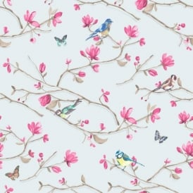 Holden Décor Kira Bird Butterfly Pattern Floral Flower Motif Wallpaper 98123