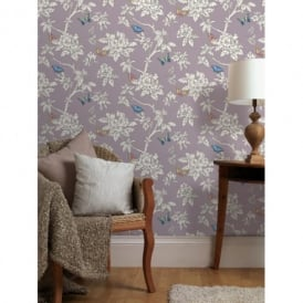 Holden Décor Tahlia Floral Pattern Flower Butterfly Motif Wallpaper 11431
