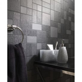 Holden Décor Tile Pattern Glitter Motif Kitchen Bathroom Vinyl Wallpaper 89240