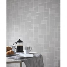 Holden Décor Tile Pattern Glitter Motif Kitchen Bathroom Vinyl Wallpaper 89243