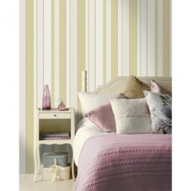 Holden Decor Amaya Striped Pattern Geometric Motif Metallic Wallpaper 11492