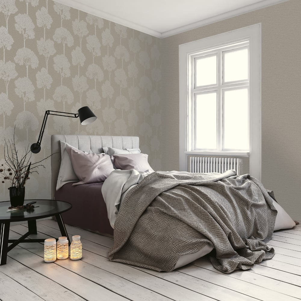 Taupe Bedroom Wallpaper