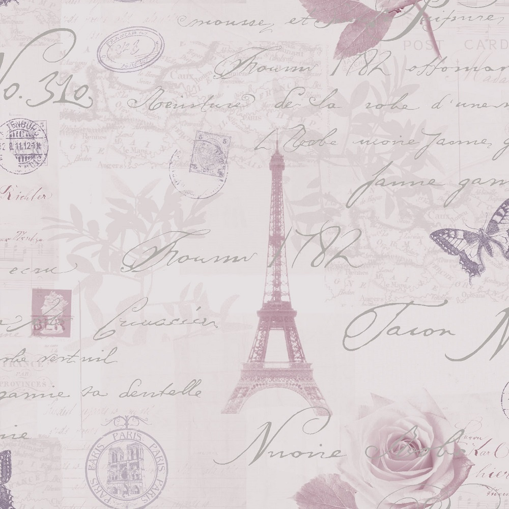 Holden Calligraphy Paris Vintage French Postcard Wallpaper ...