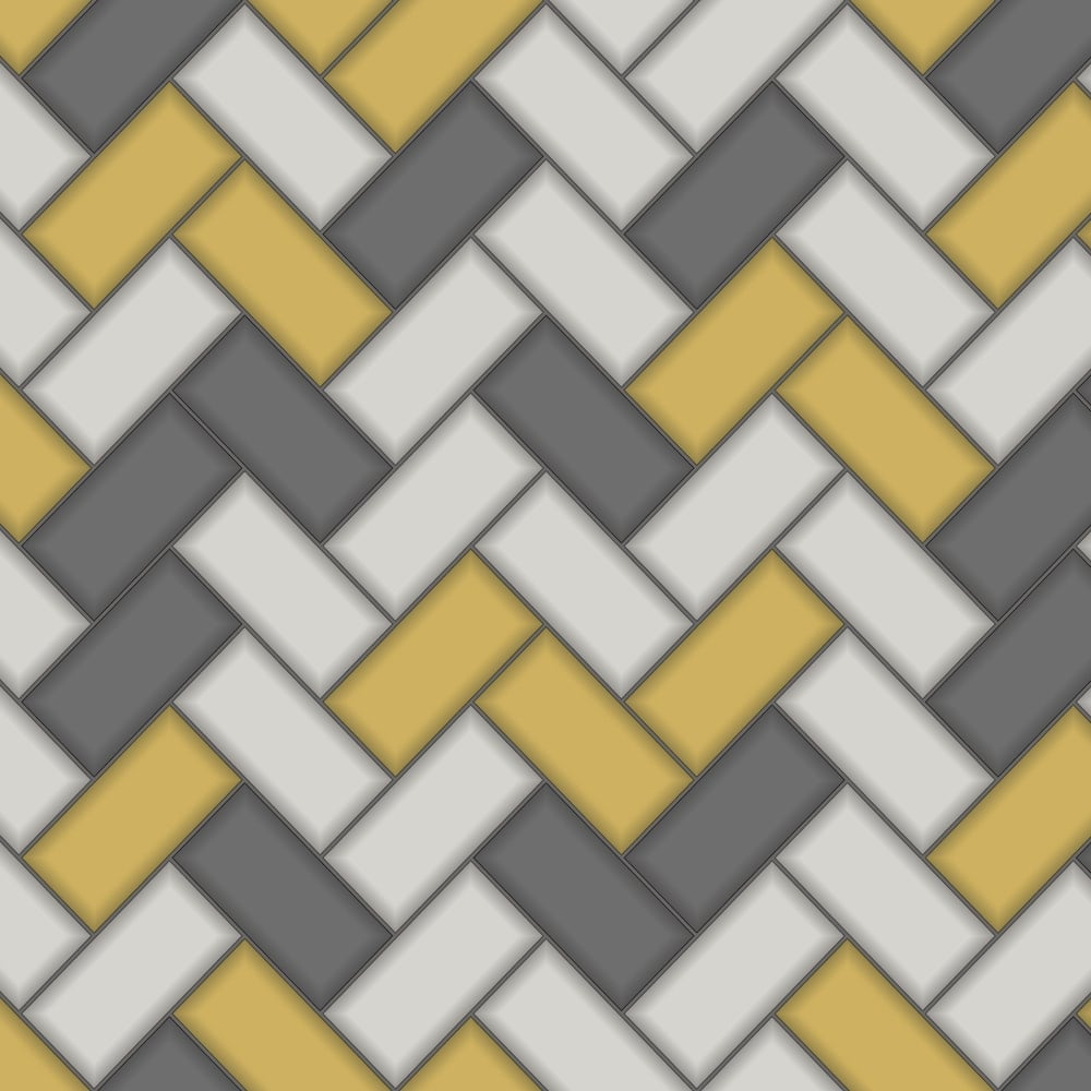 Holden chevron tile pattern wallpaper stripe glitter faux effect kitchen bathroom 89300