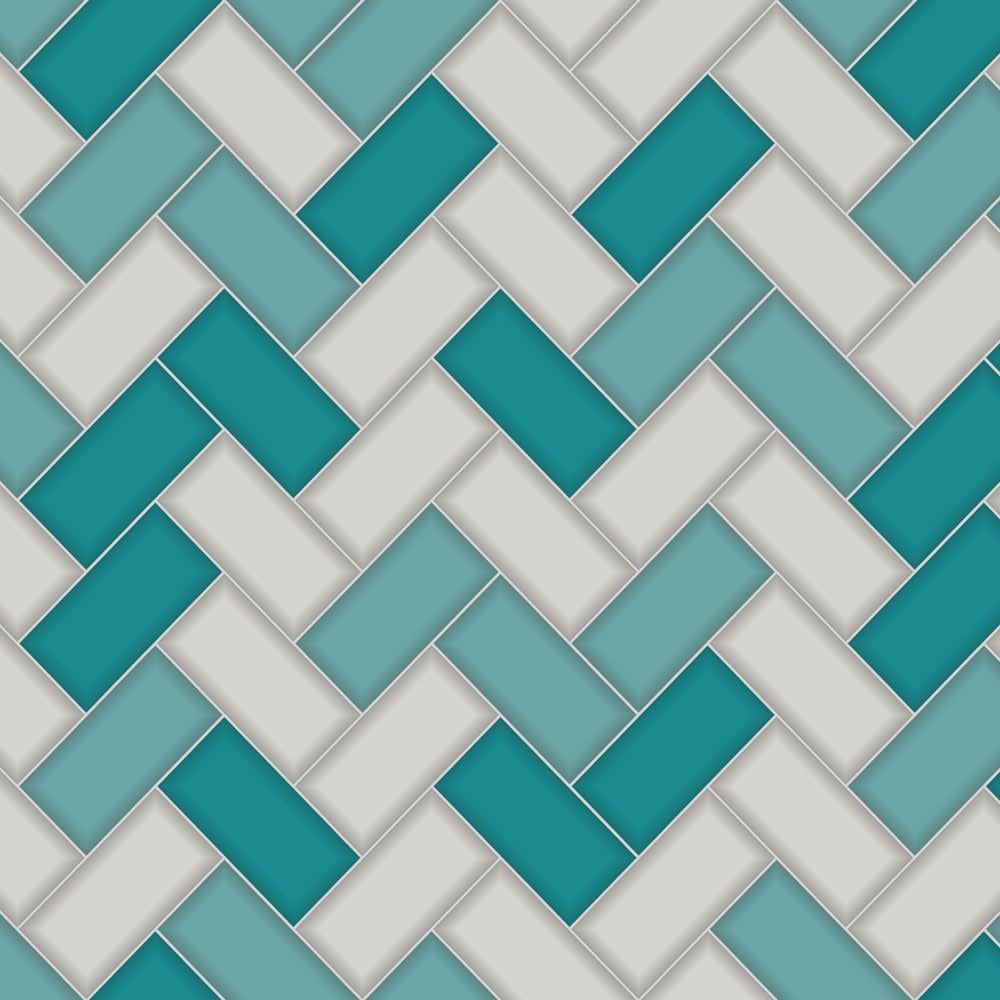 Holden Chevron Tile Pattern Wallpaper Stripe Glitter Faux Effect Kitchen Bathroom 89301