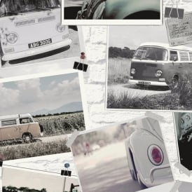 Holden Classic Cars Pattern Wallpaper Photo Collage Retro Brick Effect 12010