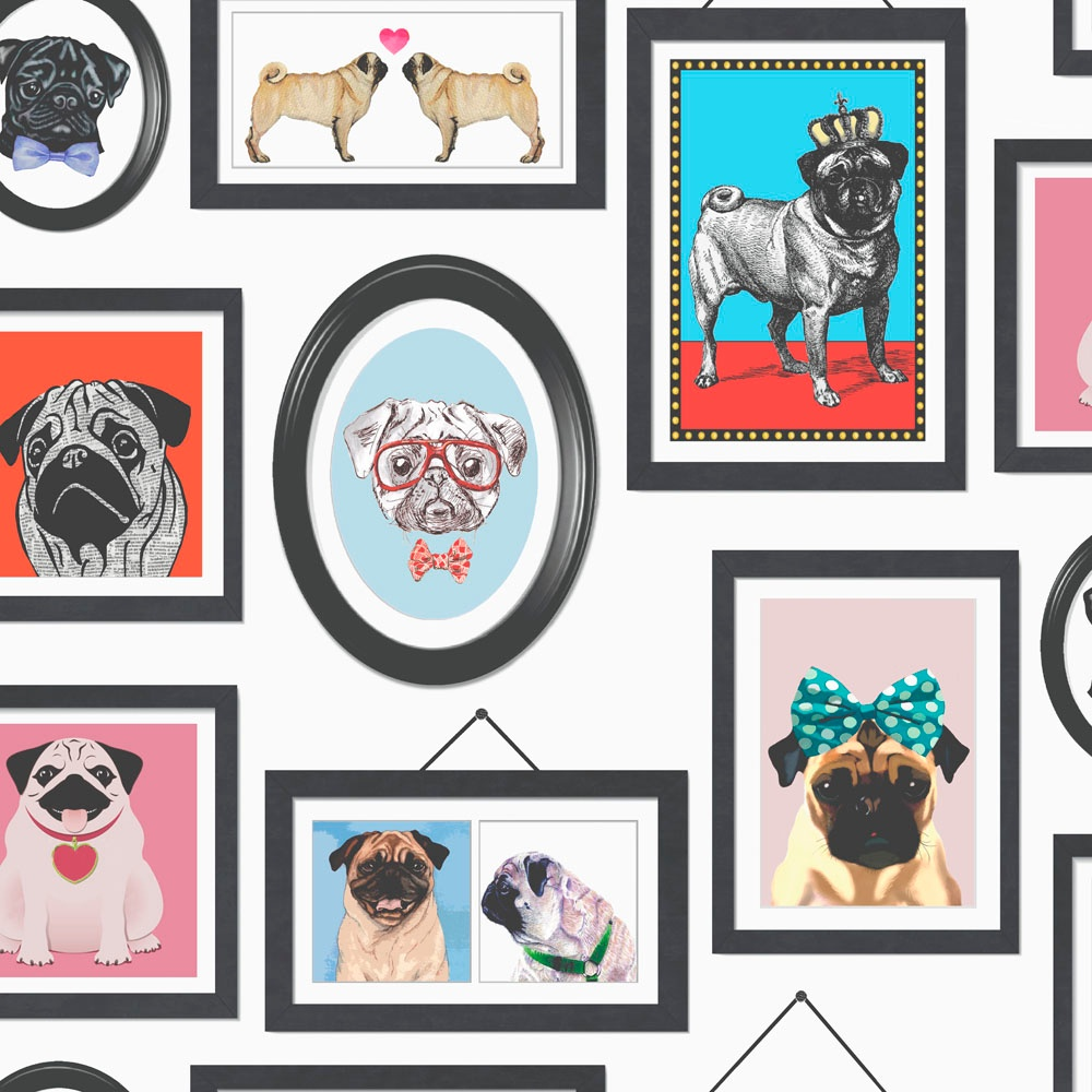 Holden Décor A Pug\'s Life Dog Picture Photo Frame Feature Wallpaper ...