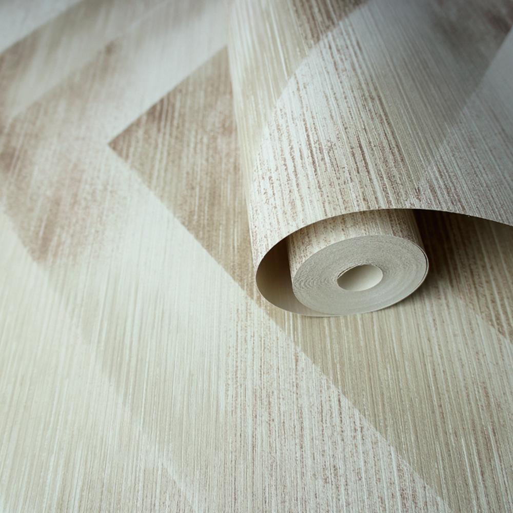 Holden Decor Cascade Zigzag Metallic Effect Geometric Stripes Wallpaper