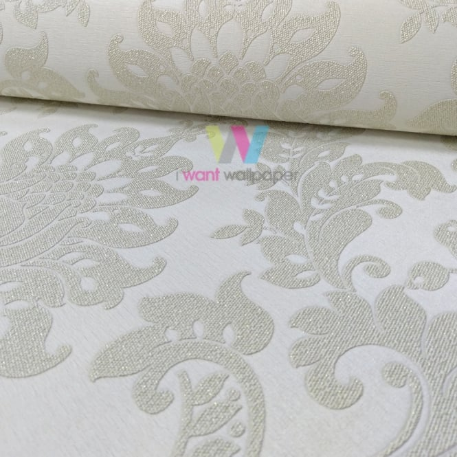 Holden Decor Holden Décor Clara Damask Pattern Wallpaper Glitter Motif Textured Vinyl 35390