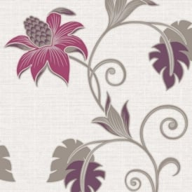 Holden Décor Dominica Flower Floral Glitter Textured Blown Vinyl Wallpaper 75641