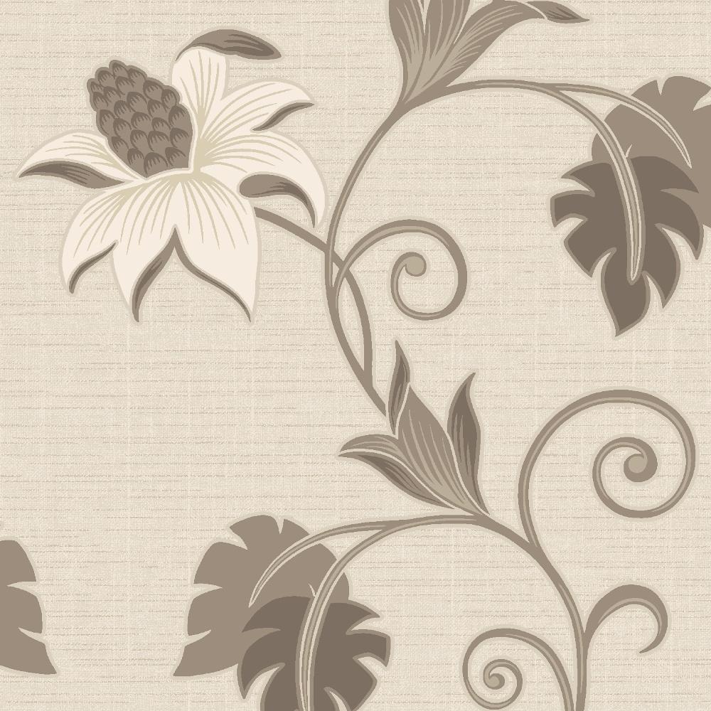 Holden Decor Dominica Flower Floral Glitter Textured Blown Vinyl Wallpaper 75643