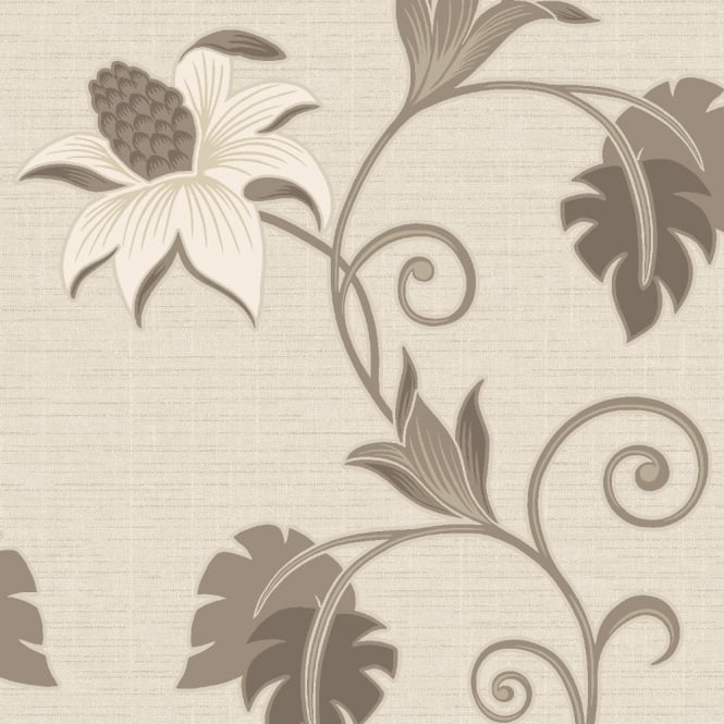 Holden Decor Holden Décor Dominica Flower Floral Glitter Textured Blown Vinyl Wallpaper 75643