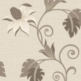 Holden Décor Dominica Flower Floral Glitter Textured Blown Vinyl Wallpaper 75643