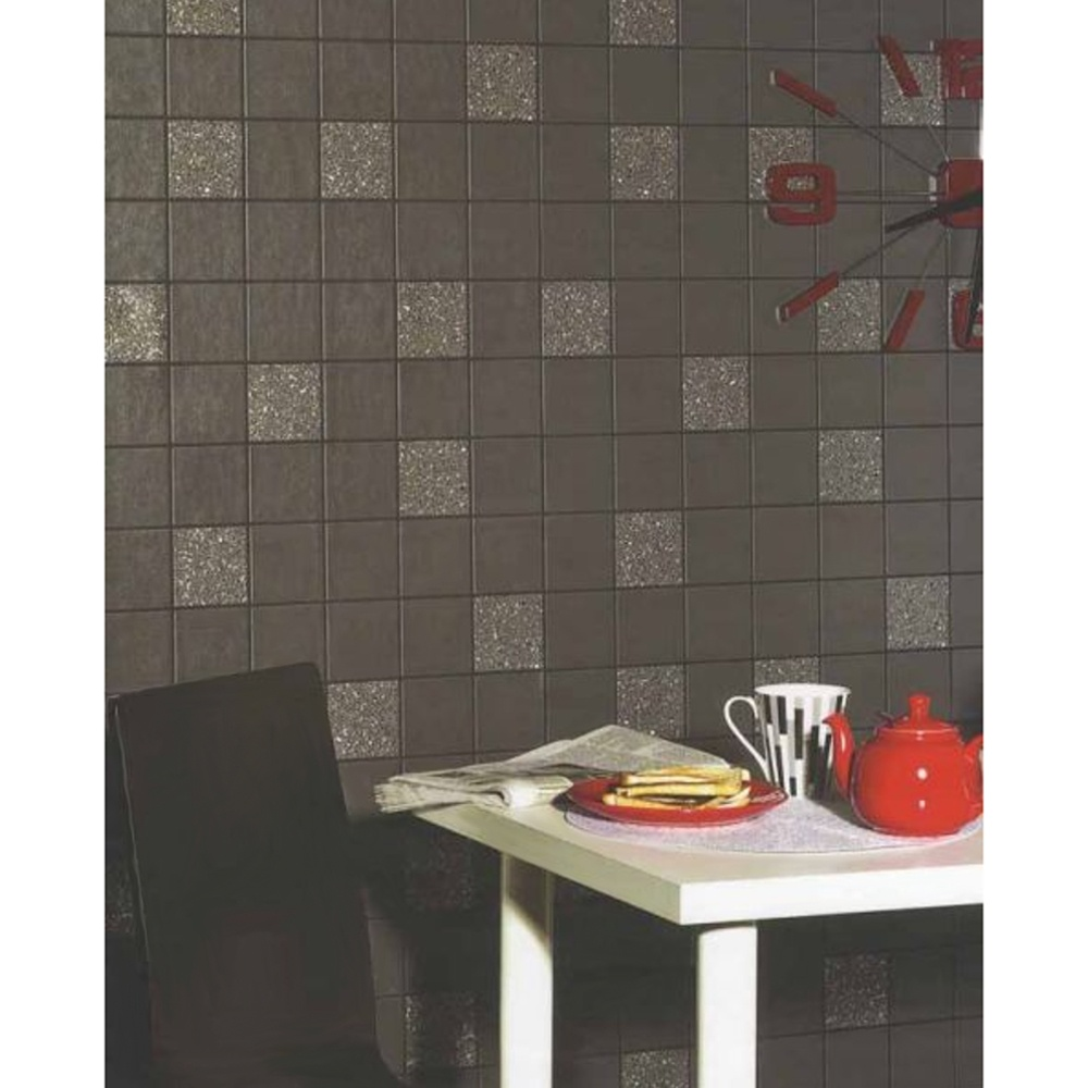 Holden granite tile kitchen bathroom embossed glitter for Kitchen and bathroom wallpaper