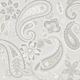 Holden Decor Indira Paisley Pattern Floral Flower Motif Metallic Wallpaper 98381