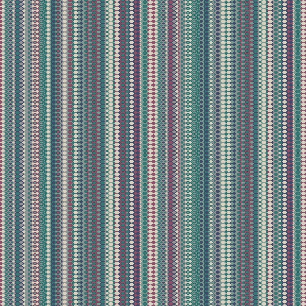 Holden Decor Java Striped Pattern Aztec Motif Metallic Silver Wallpaper 98394