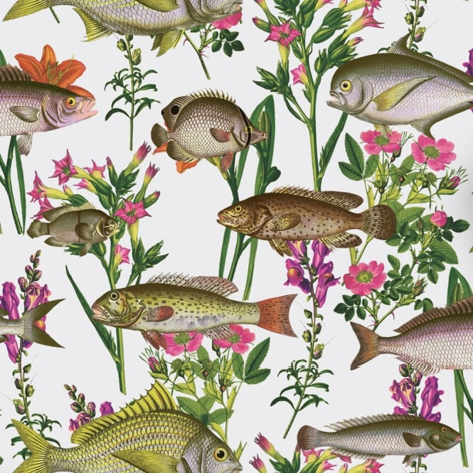 Holden Decor Lagoon Fish Pattern Wallpaper Sea Life Aquarium Marine Flowers 12170