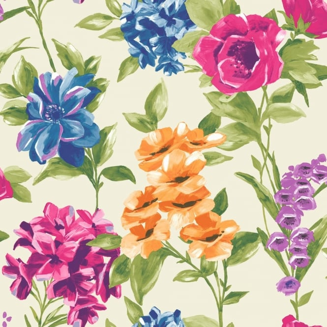 Holden Decor Holden Décor Petula Floral Pattern Painted Flower Motif Wallpaper 98361