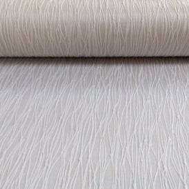 Holden Décor Siena Plain Stripe Pattern Embossed Heavy Weight Vinyl Wallpaper 35184