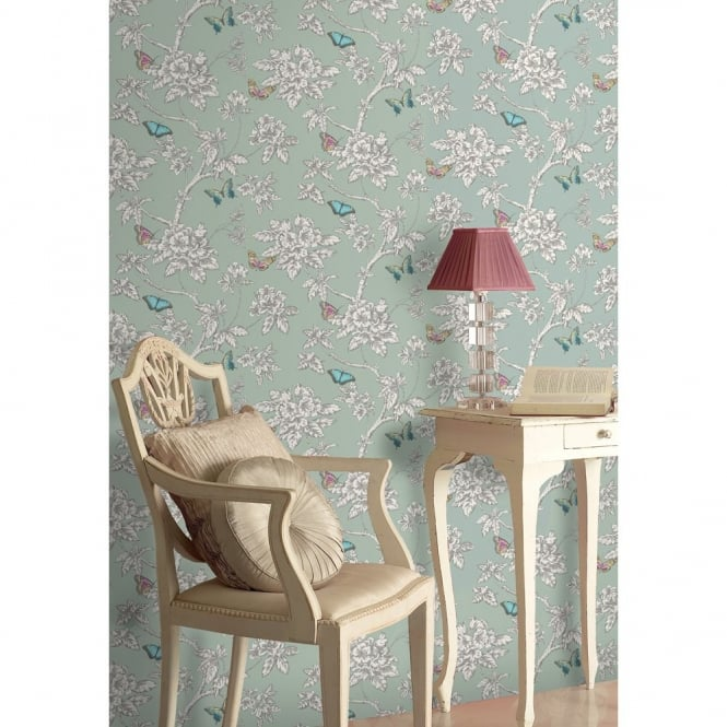 Holden Decor Holden Décor Tahlia Floral Pattern Flower Butterfly Motif Wallpaper 11432