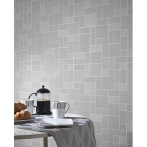Holden Décor Tile Pattern Glitter Motif Kitchen Bathroom Vinyl Wallpaper 89243