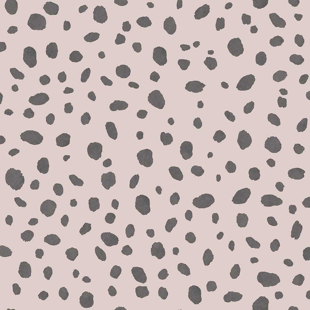 Shop Dalmatian Dots Wallpaper Animal Print Black Pink