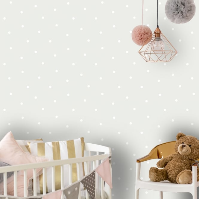Use Childen S Room Wallpaper To Add Oodles Of Character: Holden Dotty Pattern Childrens Wallpaper Polka Dot Spots
