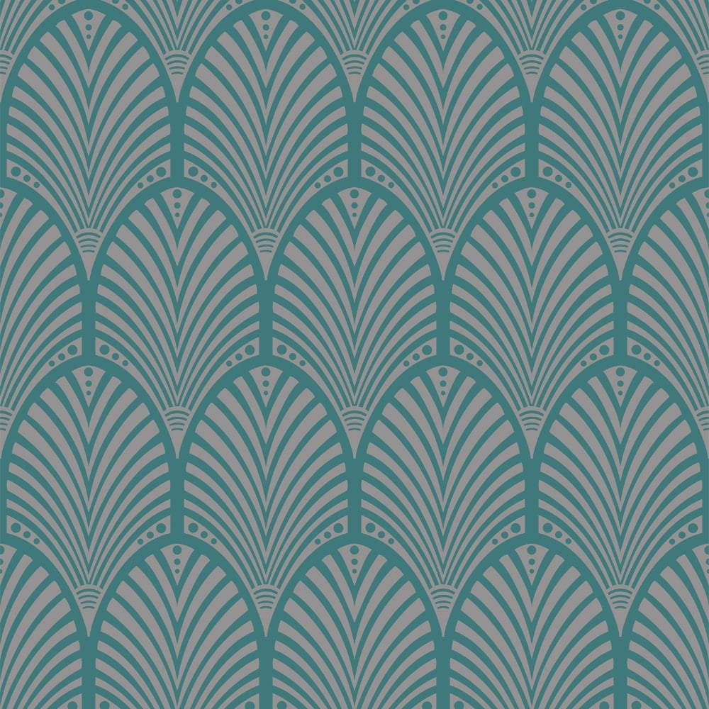 Holden Gatsby Arch Pattern Wallpaper Art Deco Retro Vintage 40s Metallic Embossed 65253