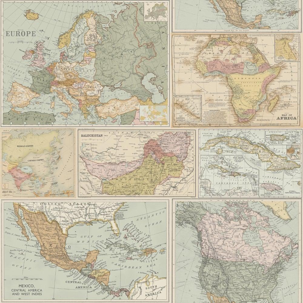 Holden globetrotter world map pattern wallpaper vintage atlas holden globetrotter world map pattern wallpaper vintage atlas cartography 98271 gumiabroncs Images