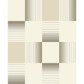 Holden Hikari Square Stripe Pattern Embossed Vinyl Tile Kitchen Bathroom Wallpaper 89141 Black Friday