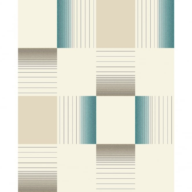 Holden Decor Holden Hikari Square Stripe Pattern Embossed Vinyl Tile Kitchen Bathroom Wallpaper 89142