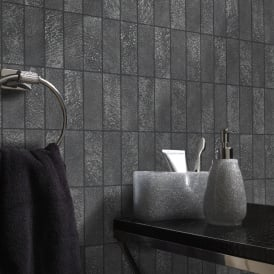 Holden Igneous Tile Pattern Wallpaper Faux Effect Stone Kitchen Bathroom Embossed 89280