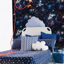 Holden Intergalactic Stars Pattern Childrens Wallpaper Space Planets Astronaut 12500