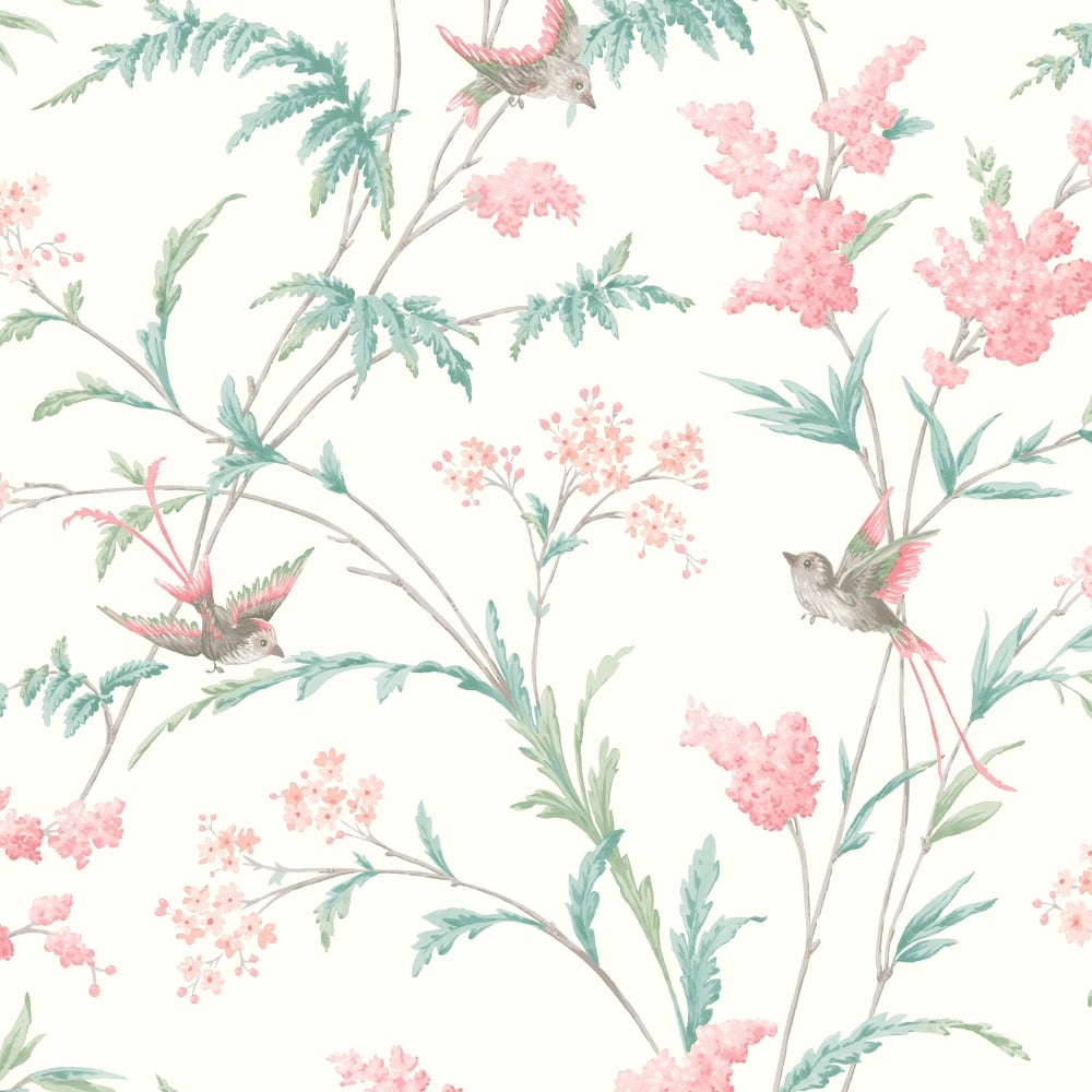 Holden Jasmine Floral Pattern Wallpaper Bird Flower Leaf Modern