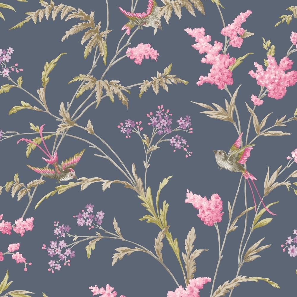 Holden Jasmine Floral Pattern Wallpaper Bird Flower Leaf Modern