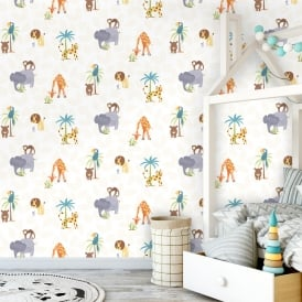 Holden Jungle Friends Childrens Animal Wallpaper Lion Monkey Kids Cartoon  12541