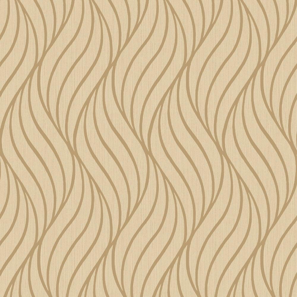 Holden Maddox Wave Stripe Pattern Wallpaper Modern Metallic Motif ...