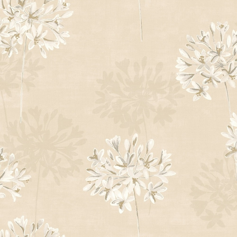 tile and decor holden floral painted effect flower 10 05m 11250