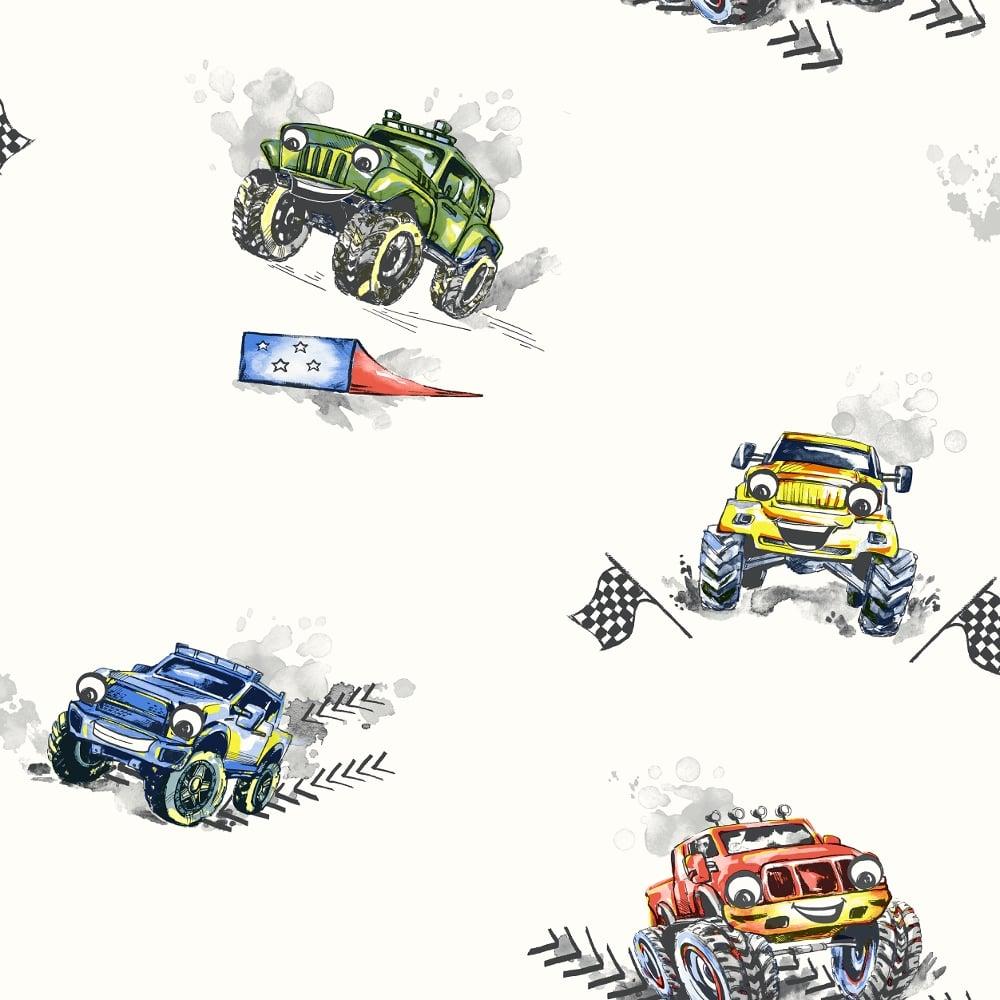 Holden Car Wallpaper: Holden Monster Trucks Pattern Childrens Wallpaper Cars