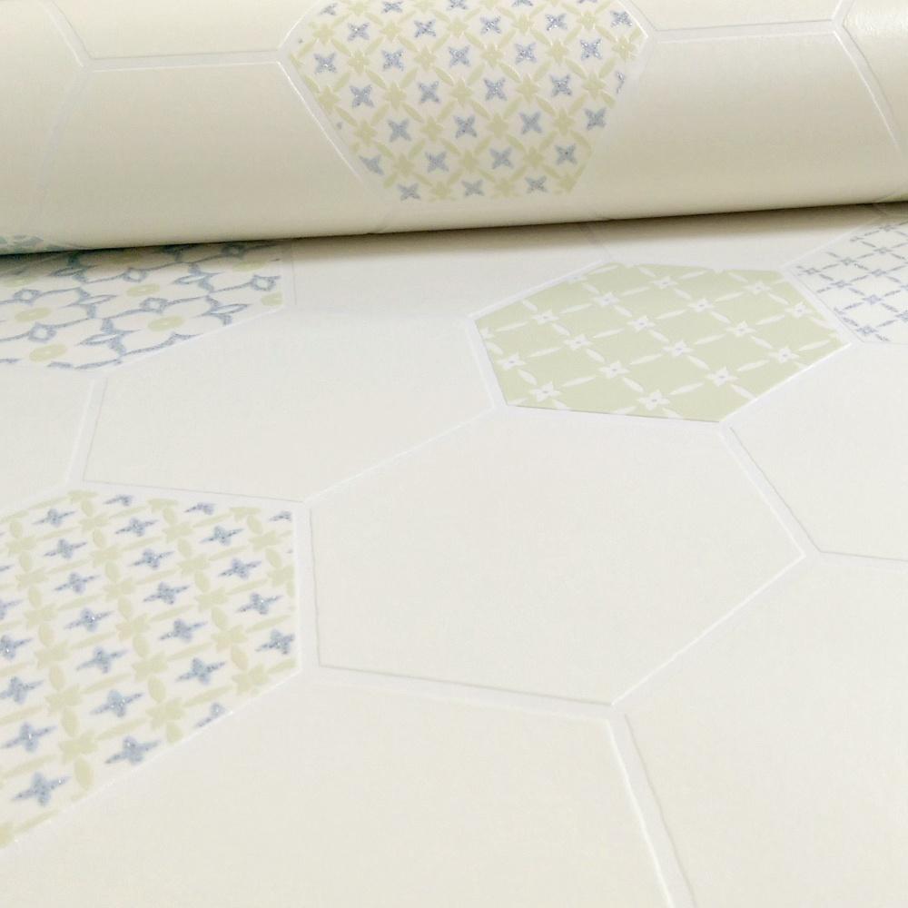 Holden Moroccan Tile Pattern Floral Glitter Kitchen Bathroom Vinyl ...