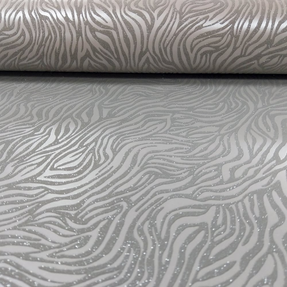 Holden Nala Animal Print Pattern Wallpaper Metallic Glitter Motif Tiger Embossed 65420