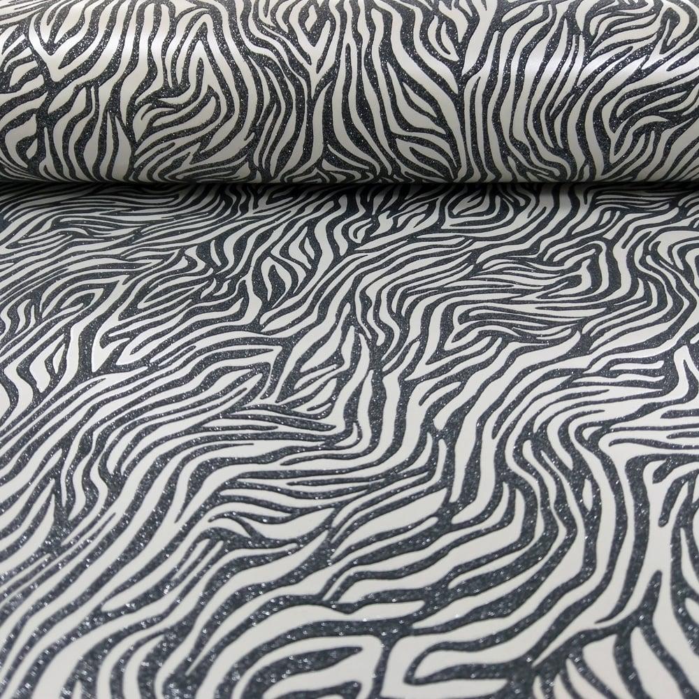 Holden Nala Animal Print Pattern Wallpaper Metallic Glitter Motif Tiger Embossed 65423