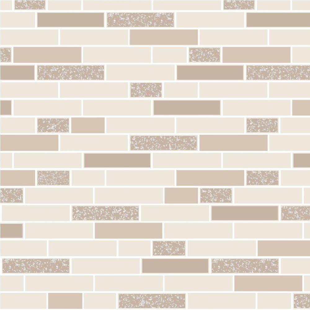 Wallpaper Tiles For Kitchen: Kitchen / Bathroom Wallpaper- Tiles -Oblong Granite- Cream